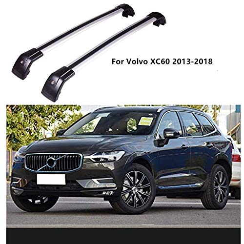 Roof Rack Cross Bars Compatible for Volvo XC60 2013-2018/2015-2019 Lincoln MKC with Side Rails, Rooftop Luggage Cargo Bag Carrier Crossbars Carrying Bike Canoe Kayak