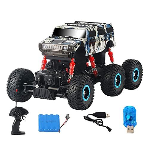 THj Coche eléctrico RC de Escala 1/14 Offroad 2.4Ghz 6WD / 40MHz Coche con Control Remoto, Camión de Escalada de Alta Velocidad con Control Remoto inalámbrico,