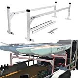ENIXWILL Heavy Duty Adjustable Aluminum Trailer Ladder Rack for Enclosed Trailers