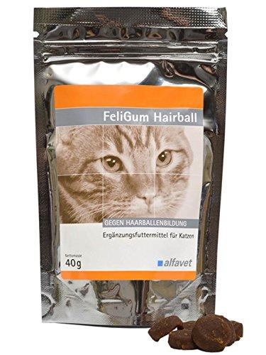 FeliGum®Hairball Einheit: 40 g-Ergänzungsfuttermittel für Katzen-Gegen Haarballenbildung-fördert die Ausscheidung von im Magen-Darm-Trakt befindlichen Haarballen