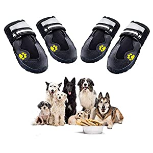 Dolebean Dog Shoes Snow Boots with Non-Slip Sole for Medium Large Dogs Indoor and Outdoor 4 PCS