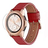 WFEAGL Compatible avec Bracelet Samsung Galaxy Watch 42mm/Gear S2 Classic/Gear Sport/Huawei Watch 2,20mm Supérieur en Cuir à...