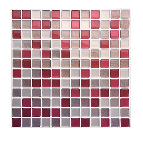 Tile & Sticker, Piastrelle Adesive con Motivo 3D in Gel a Mosaico, di Alta qualità, Accessorio Durevole di Accessori per Decorazioni Fai da Te, per Casa Camera da Letto Soggiorno Bagno(YJC0019)