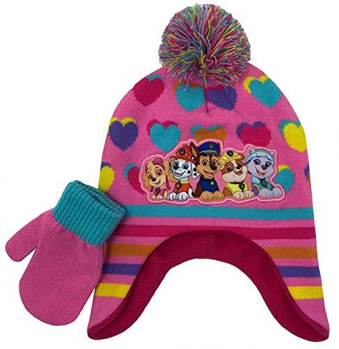 Paw Patrol Wintermütze und Handschuh, für Mädchen im Alter von 2–5 Jahren, Rosa