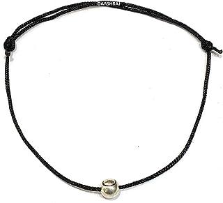 DARSHRAJ JEWELLERS 925 Sterling Silver(Chandi) Moving Ball Black Thread Use For Baby Girls, Girls, Women [Anklet, Bracele...
