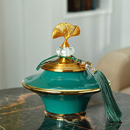Yener europa luxe keramische vaas vliegende schotel vormige grote vaas creatieve beeldjewoondecoratieambachten desktopporseleinen ornament, een21x23cm