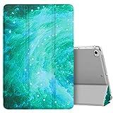 MoKo Compatible con New iPad Mini 5th Generation 7.9' 2019/iPad Mini 4 2015 Funda, Ultra Delgado Función de Soporte Protectora Plegable Cubierta Inteligente Trasera Transparente - Swirl