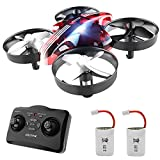 ATOYX Mini Drone for Kids and Beginners,Portable Remote Control RC Quadcopter Drone Toy, Best Drone for Boys and Girls with Altitude Hold, 3D Flips, Headless Mode,LED Light&Extra Batteries AT-66(Red)