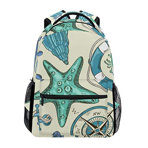 Schiffskompass Art. Schulter Student Rucksacks Bookbags Kinderrucksack Büchertasche Rucksäcke für Teen Mädchen Jungs