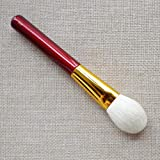 Suave  Herramientas plana suave pelo de cabra Ronda se ruboriza cepillo cosmético compone cepillos del maquillaje de cepillo profesional hecho a mano alta calidad