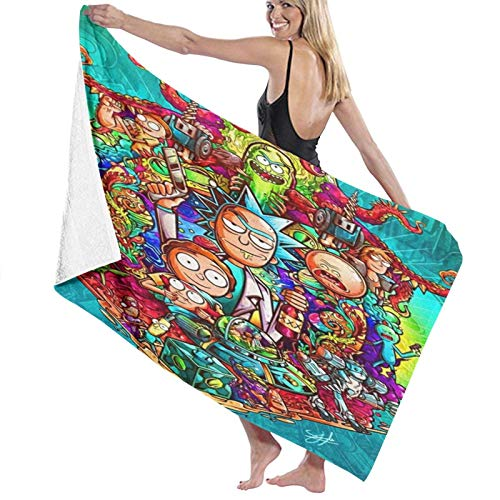 Custom made Rick And Morty - Toallas de playa para adolescentes y adultos (80 x 130 cm)