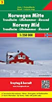Norway Central - Trondheim - Lillehammer - Alesund Sheet 2 Road Map 1:250 000 (Road Maps)