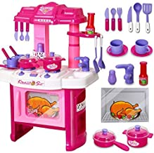ARHA IINTERNATIONAL Big Size Kitchen Set for Girls Toys with Lights and Music | Kids Toys for Girls | Kids Kitchen Play Set for Girls