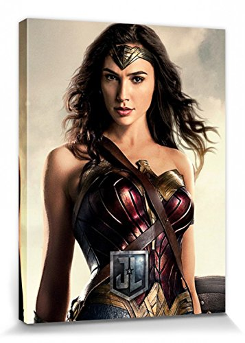 1art1 Justice League - Movie, Wonder Woman Bilder Leinwand-Bild Auf Keilrahmen   XXL-Wandbild Poster Kunstdruck Als Leinwandbild 80 x 60 cm