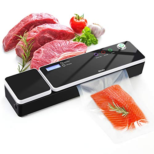 Vacuum Sealer Machine, Aitsite Automatic Food Sealer for Food Savers/Food Scale Led Indicator Lights Easy to Clean Dry & Moist Food Modes  Compact Design Starter Kit (BLACK)