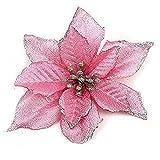 Zabrina 12 Pcs 5.11 in Christmas Tree Decorative Silk...