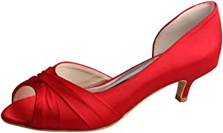 Wedopus MW632 Womens D-Orsay Open Toe Low Heel Wedding Bridesmaid Pumps Shoes