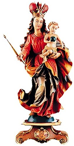 Holzfigur Madonna Bawaria coloriert - Holzschnitzereien Dolfi