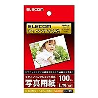 ELECOM 写真用紙 キヤノンインクジェットプリンタ対応 プラチナフォトペーパー L判 特厚 100枚 EJK-CPL100N