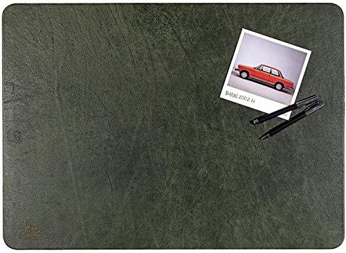 Centaur - Hochwertige Schreibtischunterlage Leder 40 x 60cm smaragdgrün für Bürotisch - handgefertigte Schreibunterlage aus Leder - Edel Schreibtisch Unterlage
