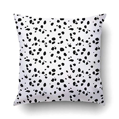 ghjkuyt412 Custom Black and White Print Dalmation Pillowcase Pillow Cushion Cover 18x18 inches