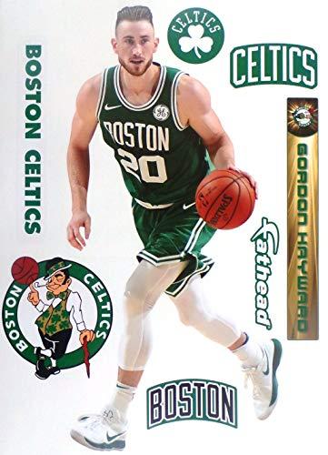 Gordon Hayward FATHEAD Graphic + Boston Celtics Logo Set Official NBA Vinyl Wall Graphics 17' INCH
