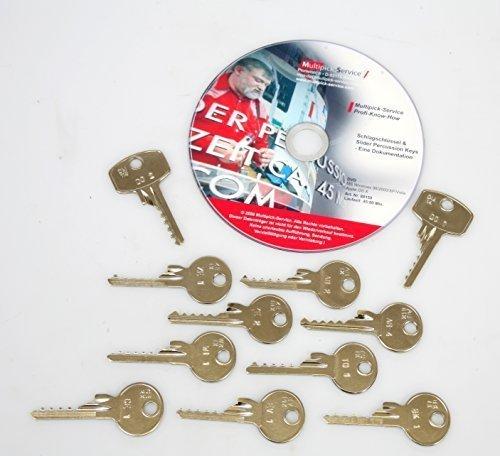Schlagschlüssel-Komplettset - Öffnen Sie Türen mit einem Schlag! 12-teilig, inkl. Anleitung auf DVD