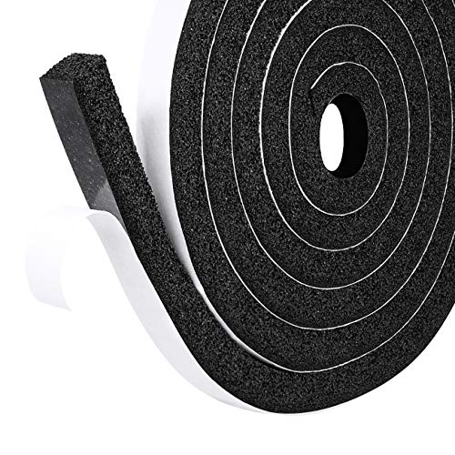 2 Rolls Black Sticky Single Sided Foam Tape 50mm Wide x 3mm Thick 4m in total