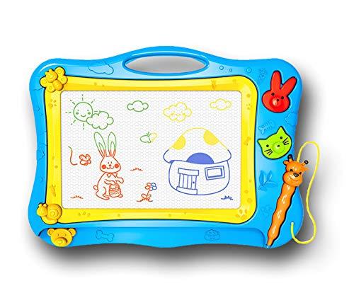 SunshineTec Magnet Zeichentafel, magnetische Zaubertafel, Maltafel, Zaubermaltafel, 31x22,5 cm groß (blau)
