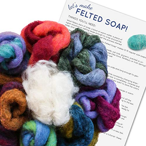 SOAP FELTING KIT: Make Your Own Felted Soap. Kit Includes Wool & Written Instructions. Creative Kids...
