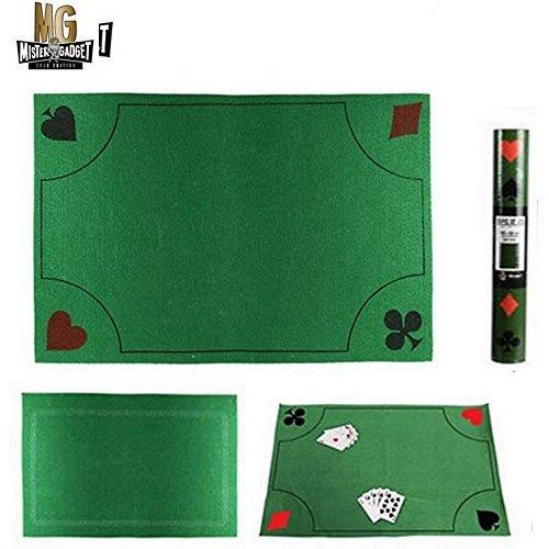 les colis noirs lcn Tapis de Jeu de Cartes 40cm x 60cm Luxe Antidérapant - Belote Poker Jouer - 767