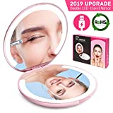 Best Travel Makeup Mirrors - LED Lighted Travel Makeup Mirror Foldable, Dual Sided Review