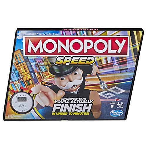 Monopoly Speed Board Game Play in Under 10 Minutes FastPlaying Board Game for Ages 8 and Up Game for 24 Players