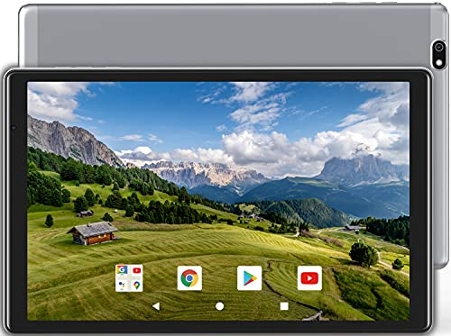 BENEVE Tablet 10 Pollici Octa-Core Tablet PC,Android 10,2GB RAM + 32GB ROM (TF 128GB),Batteria 5000mAh, Fotocamera 8MP,1280 * 800 IPS HD,WIFI,Bluetooth,GPS,USB Type-C(Grigio)