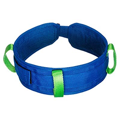 COW&COW Heavy Duty Gait Belt with 3 Grip Handles and Metal Loop for Physical Therapy 4 inches