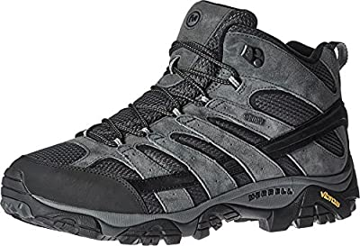 Merrell Men's Moab 2 Mid Waterproof Hiking Boot, Granite, 10.5 2E US