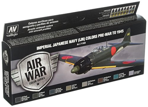 Vallejo Model Air AK InterActive German Dunkelgelb vernice acrilica set per aerografo, colori assortiti (confezione da 8)