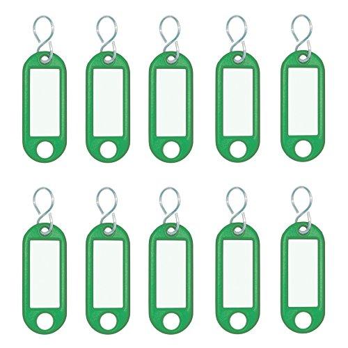 WEDO Schlüsselanhänger S-Haken, grün, Inhalt: 10 Stück