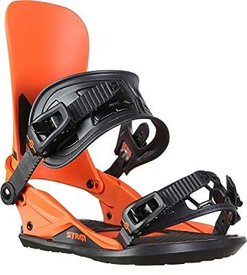 Union Strata Snowboard Bindings Mens Sz M (8-10) Union Orange