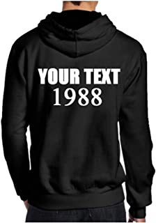 Custom Hoodies, Customized Names and Numbers,Text,Logo,Photo Personalized Pullover Hoodie for Men