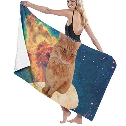 LREFON Toallas de baño Cat on Mexican Twister Toalla de Ducha de Secado rápido a la Moda Toalla de natación de Playa Suave con Personalidad (31.5X51.2 Pulgadas)