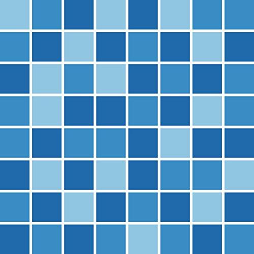 PrintYourHome Fliesenaufkleber für Küche und Bad | Mosaik Ozean matt | Fliesenfolie für 15x15cm Fliesen | 4 Stück | Klebefliesen günstig in 1A Qualität