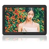 Cornice Digitale 8 Pollici Full HD Schermo LED IPS AD Alta Risoluzione 1920 * 1080 Telecomando Anteprima e Auto-Rotazione Portafoto Digitale MELCAM per Foto/Musica/Video – Nero