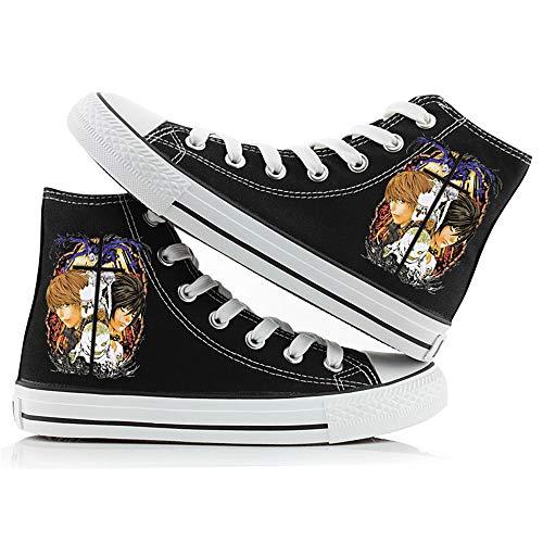 LKKOY Parcial Death Note Mujeres Zapatillas De Deportivos De Sneakers Transpirable con Cordones Zapatillas para Correr Atlético Caminar Zapatos,Black 39