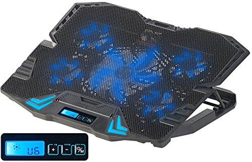 """Callstel Laptop Kühler: Notebook-Kühler bis 39,6 cm (15,6\""""), 5 Lüfter, 2.500 U/Min, USB (Laptop Cooler)"""
