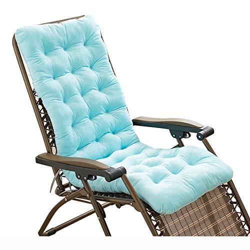 Cojín plegable para silla mecedora, cojín para tumbona, silla reclinable para patio, alfombrilla gruesa para jardín, exterior, interior, sofá, tatami, cojín para asiento de coche,Azul,140×50×10cm