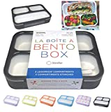 Bento Lunch Box For Adults, Kids | Leakprook Meal Prep Portion Control Boxes Japanese Style for Boys...
