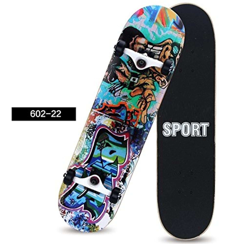 [FASTAM]高品質スケートボード/31インチ テールキック メープルデッキ 【ABEC-9ベアリング採用】