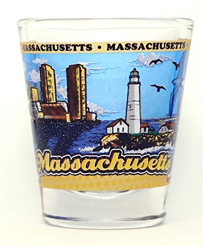 Massachusetts State Wraparound Shot Glass