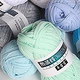 1 unid 100 g de punto de tejido tejido de punto de tejido Cesta gruesa Manta Alfombras Hilo acogedor algodón lana tejer tapas tapas Bricolaje Hilado de tela de fantasía de ganchillo ( Color : 48 )